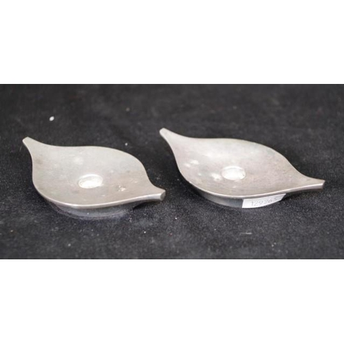 1247 - Pair Danish sterling silver candle holders hallmarked to base, (width 9.5cm approx, each, weight 276...