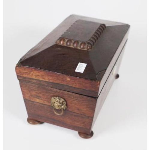 1383 - Small Victorian sarcophagus shape tea caddy...