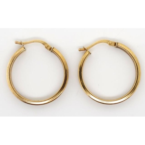 139 - 9ct yellow gold hoop earrings marked 375 Italy approx 1.6 grams weight...