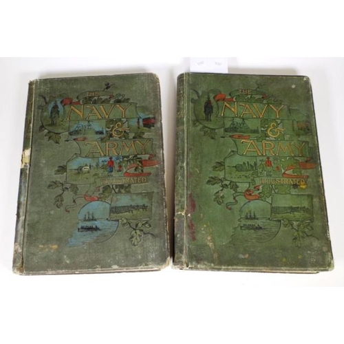 1399 - Two volumes 'Navy & Army Illustrated' edited by Commander Charles N. Robinson, published by Hudson &...