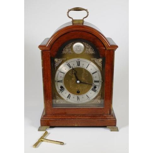 1403 - Elliott (London) bracket clock with 8 day lever escapement movement, Westminster and Whittington chi...