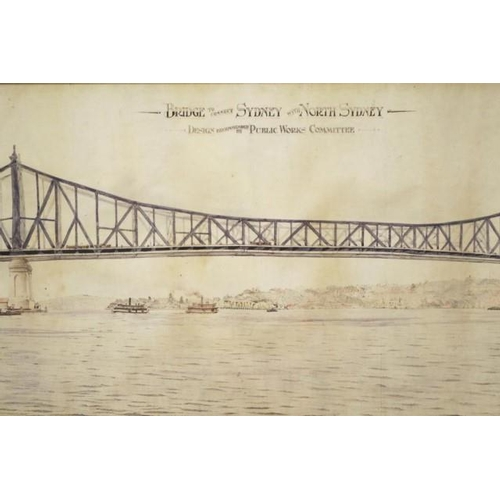 1407 - John Jacob Crew Bradfield (1867-1943) 'Bridge to connect Sydney with North Sydney, Design recommende...