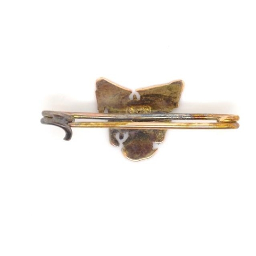 163 - 9ct gold Tasmania map brooch marked 9ct approx weight 0.7 grams...