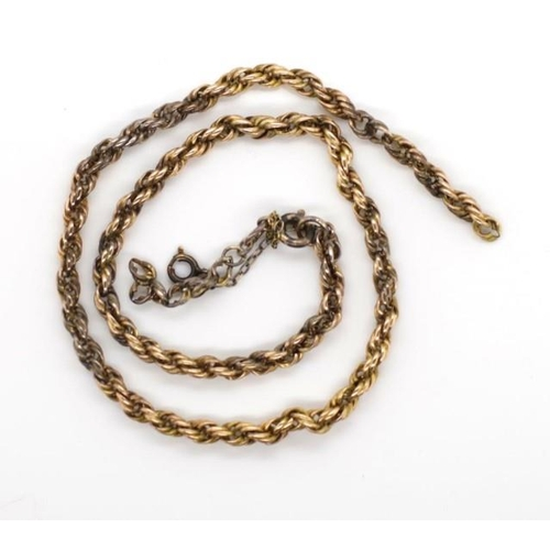 217 - Gold chain for restoration or scrap unmarked approx weight 20 grams. Tests near 12ct...