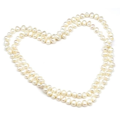 281 - Princess length cultured pearl necklace approx 50cm length...