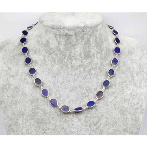 288 - Delicate lapis lazuli bead necklace Approx 42cm length...