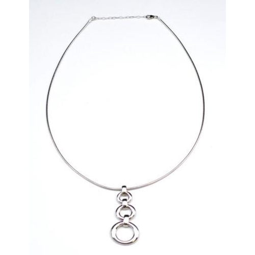290 - Sterling silver pendant and omega chain marked 925 approx 48cm length 18 grams weight...