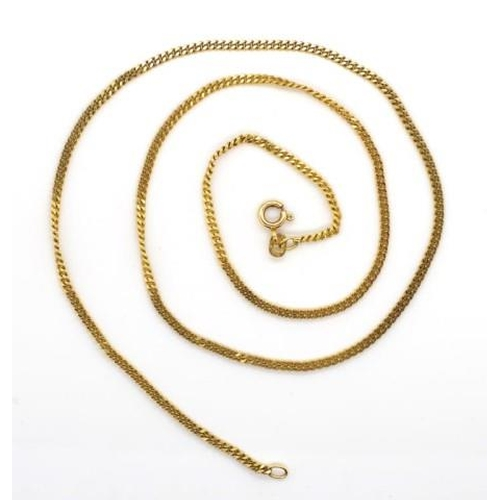 3 - 9ct yellow gold curb link chain necklace marked 375 Italy approx length 51cm, 6 grams weight...