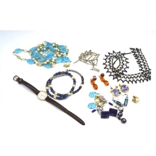 300 - Costume and beaded jewellery group includes, necklaces, earrings...