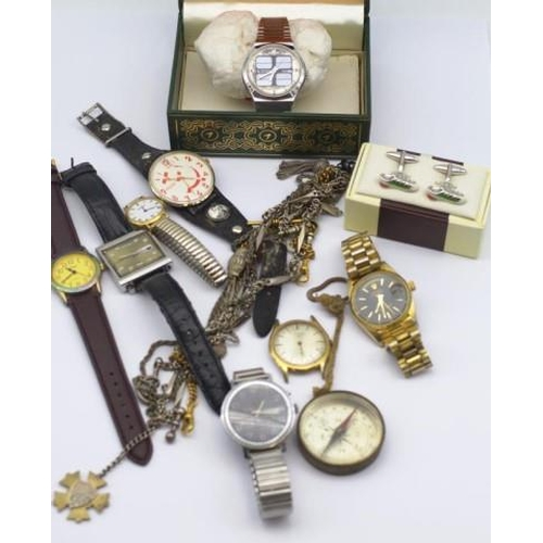 302 - Group of watches and costume jewellery...