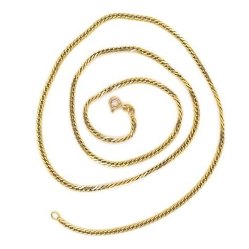 32 - 14ct yellow gold chain necklace marked 585 Italy approx 60cm length, 13.3 grams weight...