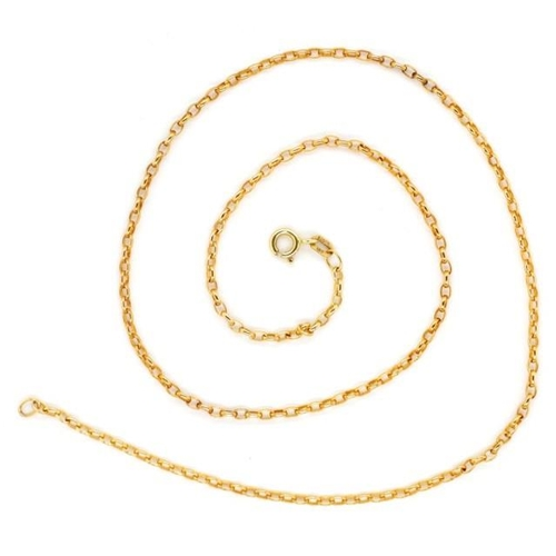 34 - 9ct yellow gold cable chain necklace approx length 50cm length, 5.4 grams weight...