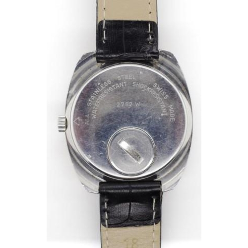 393 - Swiss Emperor watch circa 1970s gentlemen's electronic watch, with an approx 37mm wide case ex crown...