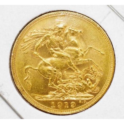 420 - Gold Sovereign 1919 Sydney Mint...