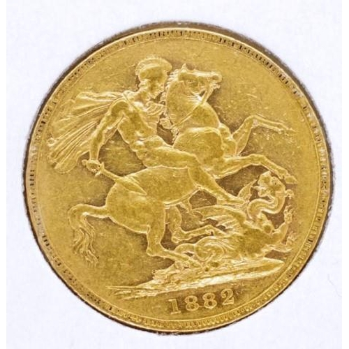 421 - Gold Sovereign dated 1882...