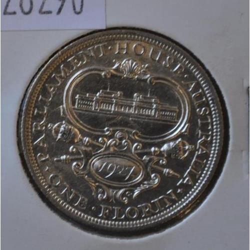 425 - Australian 1927 Canberra florin...