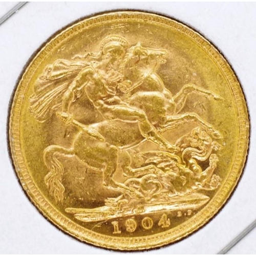 426 - Gold Sovereign 1904 Melbourne...