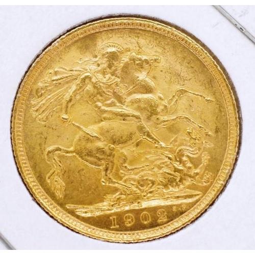 428 - Gold Sovereign 1902 Sydney mint...