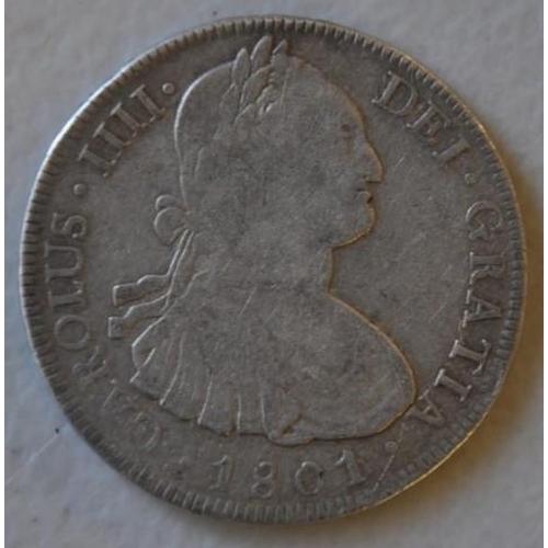 432 - Spanish 1801 silver dollar...
