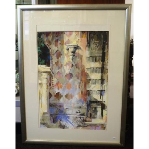 451 - Graham Lupp (b1946) 'The Cathedral' 'of San Lorenzo, Perugia,' 1993, pastel on alpharag, signed lowe...