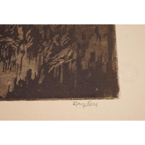 458 - Sydney Long (1871-1955) ' Pan' 1916, aquatint, proof, facsimile, signed in pencil lower right. (27cm...