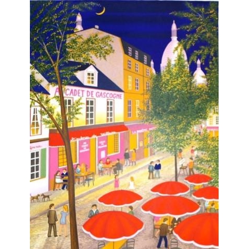 479 - Fanch Ledan (French b1949) Montmartre, lithograph, # 40/150, signed in pencil lower right, (64cm X 5...