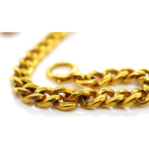48 - 9ct gold chain yellow gold chain with 375 touch marks and spring ring clasp. As well as another 9ct ...