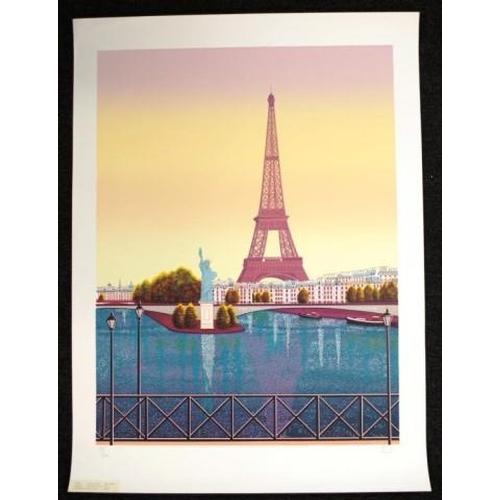 481 - Fanch Ledan (French b1949) Le Vent de la Liberte Paris, lithograph, # 98/100, signed in pencil lower...