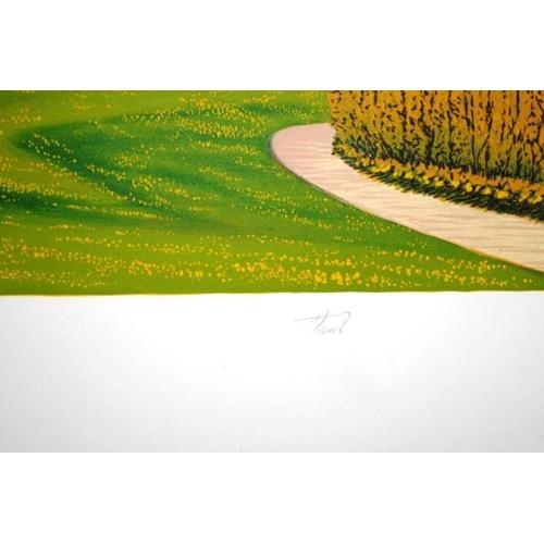 483 - Fanch Ledan (French b1949) San Francisco Golf Club, lithograph, # 33/100, signed in pencil lower rig...