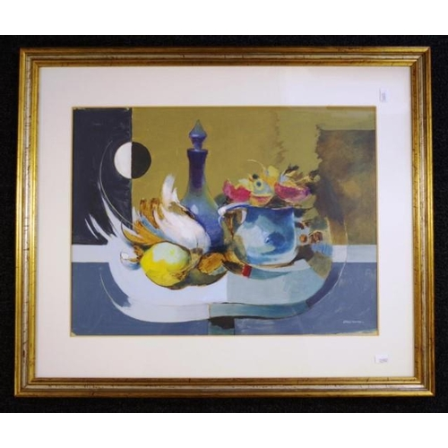 491 - Giuseppe Jacchini (Italy b1909) Still Life oil on board, signed lower right. Biography of artist ver...