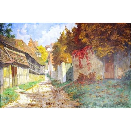 504 - Josef Sturm (Austria 1858-1935) 'Rothenburg' 'ob der Tauber,' circa 1920, oil on canvas, signed lowe...
