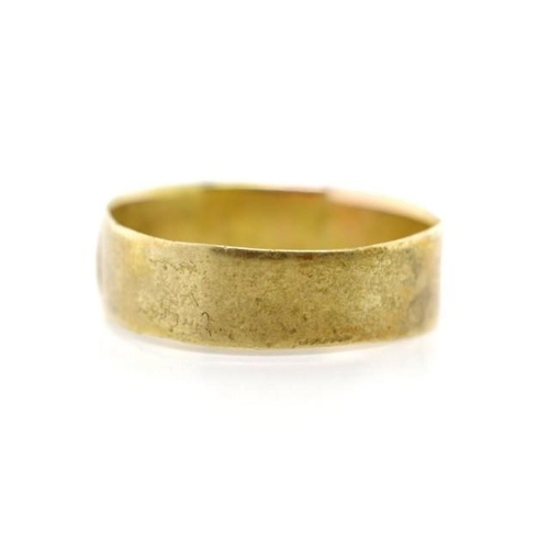 19 - Antique 15ct yellow gold Mizpah ring rubbed marks. Approx weight 2.19 grams weight, ring size O-P...