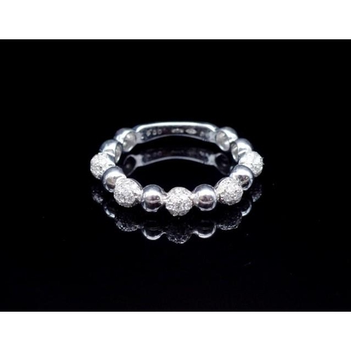 51 - 18ct white gold and diamond bubble ring marked AU 750 KoK 0.41ct (diamonds). Approx weight 3.23 gram...