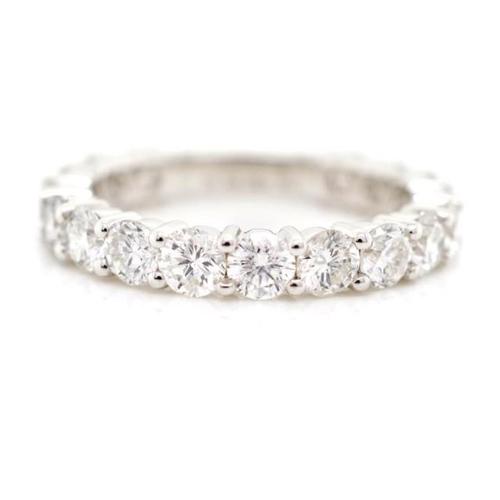 32 - 2.00ct Diamond set 18ct white gold eternity ring marked 750. Approx round brilliant cut diamond tota...