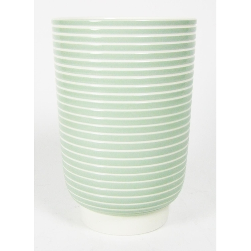 A Wedgwood Keith Murray Vase Of Green Ribbed Form Height 185cm 7