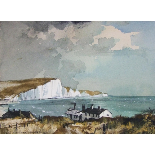 216 - Rowland Hilder, Seven Sisters, watercolour, signed, 23.5 x 33 cm (9 1/4 x 13 in.)...