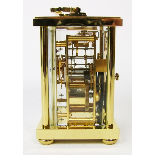 148 - A Matthew Norman carriage clock, the movement striking on a gong, height 14.5cm (5 3/4in.)....
