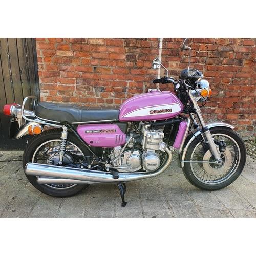 1045 - 1972 Suzuki GT750 J, 750cc. Registration number YOD 709K. Frame number GT750 - 18823. Engine number ...