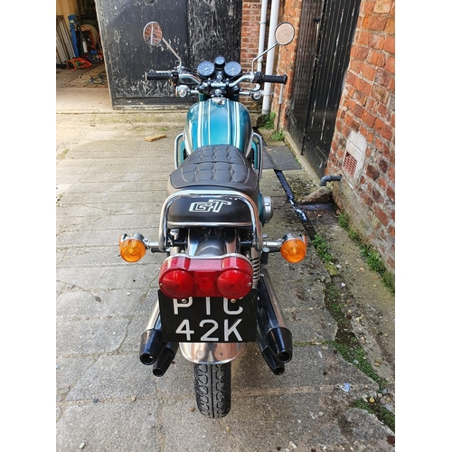 1046 - 1972 Suzuki GT750 J, 750cc. Registration number PTC 42K. Frame number GT750 - 18071. Engine number G...