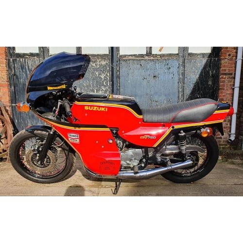 1047 - 1976 Suzuki GT 750A, Dunstall replica, 750 cc. Registration number MNA 93P. Frame number GT750 66334...