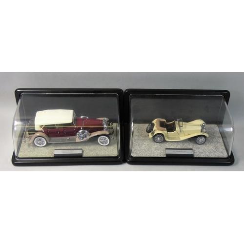 11 - Franklin Mint precision models, 1:24 scale 1938 Jaguar SS 100, together with 1930 Duesenberg J Derha...