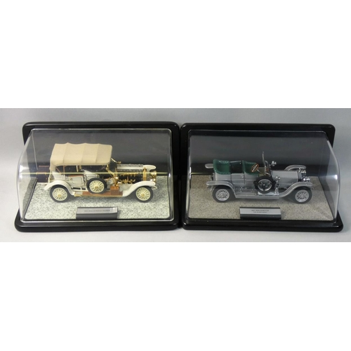 4 - Franklin Mint precision models, 1:24 scale 1911 Rolls Royce Tourer, together with a 1907 Rolls Royce...