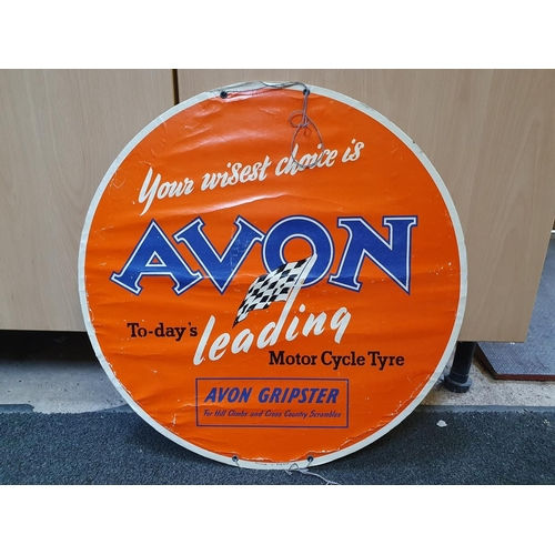 42 - An Avon motor cycle tyre display disc, diameter 50 cm....