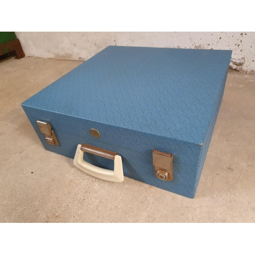 49 - A Brexton picnic set, c.1960's, apparently complete, in a turquoise blue case....