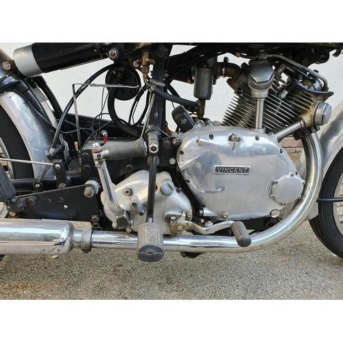 1062 - 1950 Vincent Comet, Series C, 499cc. Registration number DCK 473. Frame number, headstock and swingi...