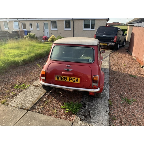 1016 - 2000 Mini Cooper Sportspack, 1275cc. Registration number W188 PGA. Chassis number SAXXNNAZEYD181683....