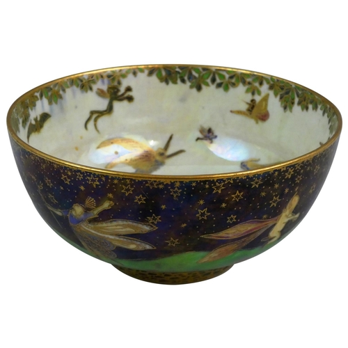 194 - A Wedgwood porcelain Fairyland Lustre bowl, designed by Daisy Makeig-Jones, of circular form, decora...