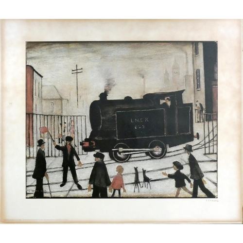 273 - After Laurence Stephen Lowry RBA, RA (1887-1976) ''Level Crossing'' signed in pencil, published in 1...