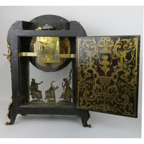 362 - A 19th century French gilt bronze mounted Boulle bracket clock, the cast and chased dial inscribed B...