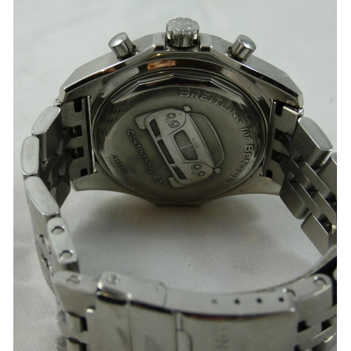 74 - A Breitling for Bentley GT Racing gentleman's automatic chronometer stainless steel wristwatch, 2007...